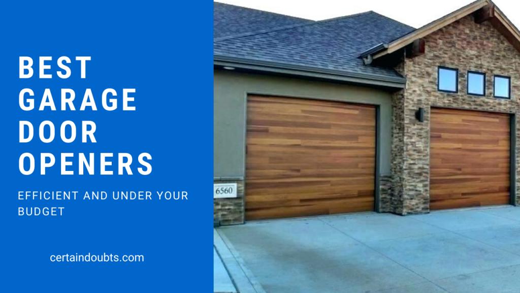 best garage door openers