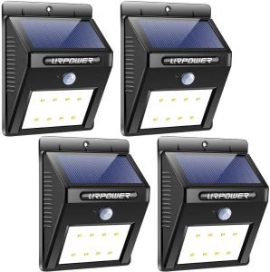 URPOWER Motion-Sensor Solar Lights (Pack of 4)