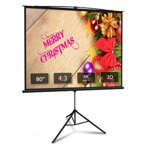 Projector Screen with Stand 80 inch